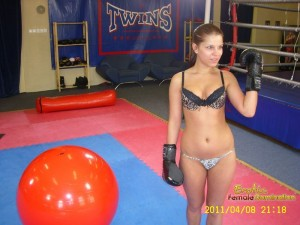 Sexy boxing session with gorgeous mistress