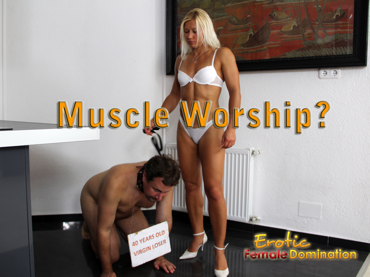 Sexy female muscle worship
