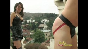 Hot mistress with big tits has a pleasant afternoon with slave
