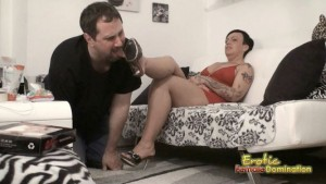 Slave Licks His Wife's Dirty Shoes Clean