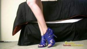 Worship Chloe's New Blue Stilettos Right Now