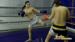 Hot Girls Have A Topless Boxing Match