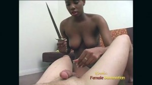 Black Whore Chops A Cock Off
