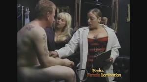 Brutal femdom BDSM dungeon session