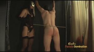 Femdom Sex Slave Punished Before Fucking