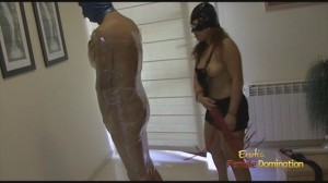 Masked Slave Pleasing And Fucking His Mistress