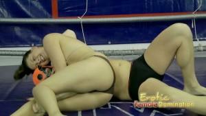 Mexican Wrestler Dominating Strong Girl