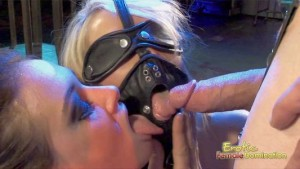 Kinky Couple Dominates A Blonde Slave In An Anal Threesome