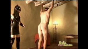 Restrained Slave Gets A Hard Ass Whooping