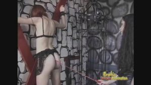 Caged Slave Learns Her Lesson Painfully