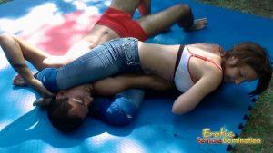 Zsuzsa Takes Sebastian Down In The Ring