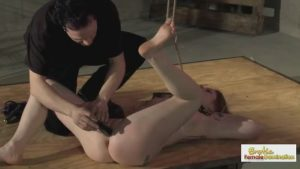 Stunning redhead is bound and humiliated by her Master
