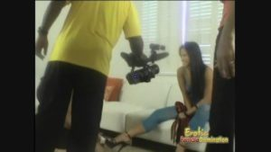 Sexy Asian girl shows how her job can be fun